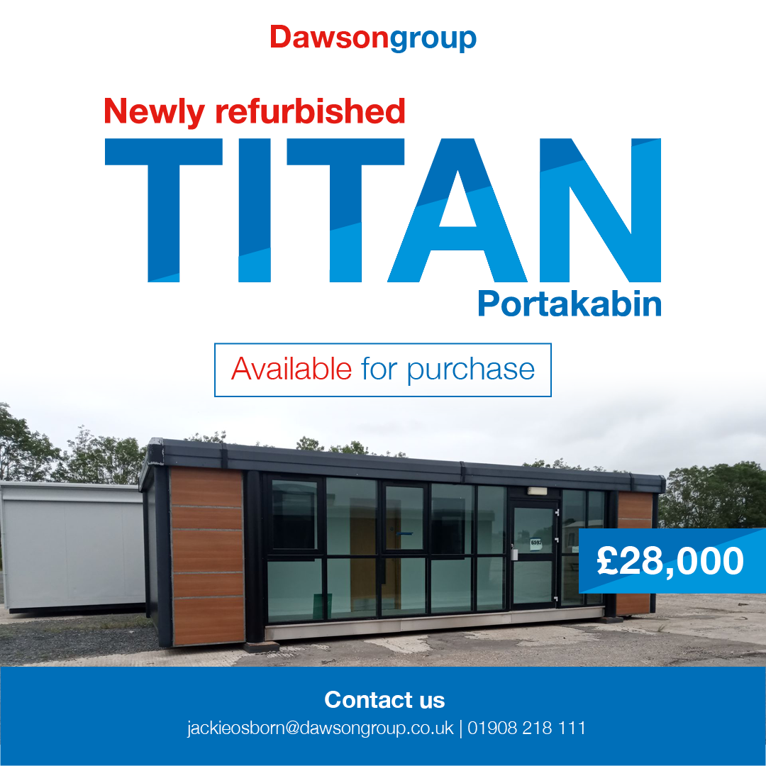 newly refurbished Titan Portakabin available for sale